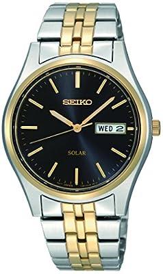 Seiko Reloj Analógico para Hombre de Energía Solar con Correa en Acero Inoxidable SNE034P1
