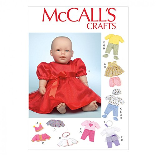 McCall 's Schnittmuster 7066Baby Puppe Kleidung