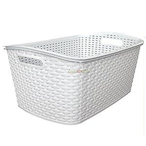 Design Wäschekorb wäschekorb rattan weiß deine wohnideen de