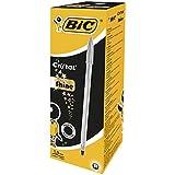 BIC Cristal - Pack de 20 bolígrafos con punta de 1 mm, color negro