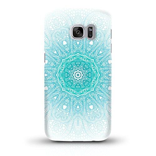 """JUNIWORDS Handyhüllen Slim Case für Samsung Galaxy S7 - Motiv """"Altrosa, Chevron, Marmor"""" Schutzhülle für Ihr Smartphone Türkiser Mandala"""