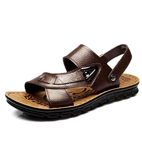 Pantofole Uomini,Vintage Casual Plus Size Sandali-A Lunghezza Piede=23.8CM(9.4Inch)
