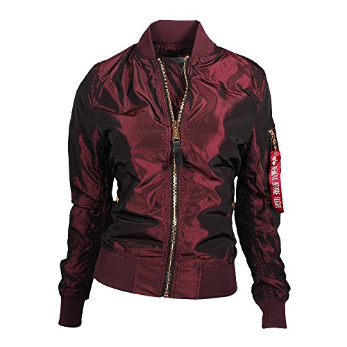 Alpha Industries MA-1 LW PM Iridium W Bomberjacke M burgundy