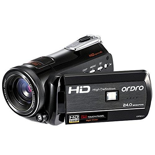 Galleria fotografica ORDRO Videocamera digitale 1080P 30FPS FHD Visione notturna professionale con integrato Wi-Fi supporto treppiedi