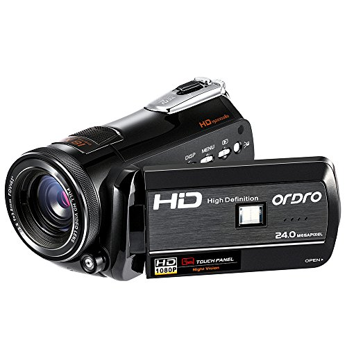 ORDRO Nachtsicht Camcorder Wifi Full HD 1080P18x Zoom Digitalkamera mit IR HDMI Fernbedienung (HDV-D395)