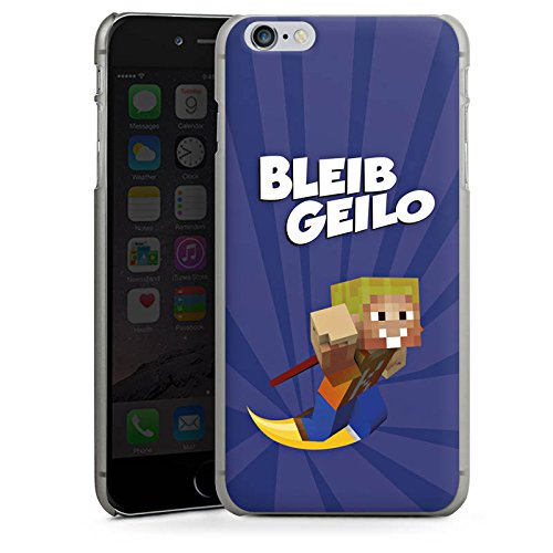 Apple iPhone X Silikon Hülle Case Schutzhülle LPmitKev Fanartikel Merchandise Bleib Geilo Blau Hard Case anthrazit-klar
