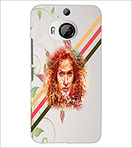 PrintDhaba Abstract Design D-5885 Back Case Cover for HTC ONE M9 PLUS (Multi-Coloured)