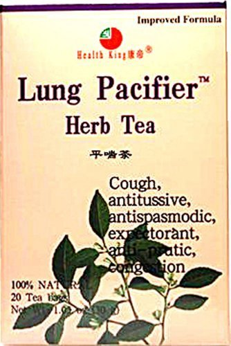 Lung Pacifier Tea Health King 20 Bag by Health King (English Manual)