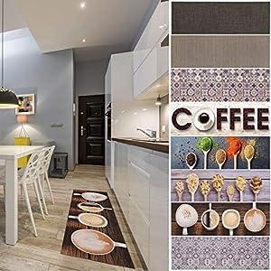 andiamo Vinyl Küchenläufer mit Buntem Design, pflegeleicht, strapazierfähig und schadstoffgeprüft