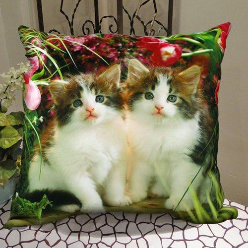 MeMoreCool Cute Pet Cat Design su entrambi i lati di peluche tessuto migliore regalo e decorativo Throw Pillow Cover cuscino divano Throw Pillow Sham Toss federa 16da 16pollici-Utilizza per divano/poltrona/letto, 100% cotone, Stile 3, 55cm by