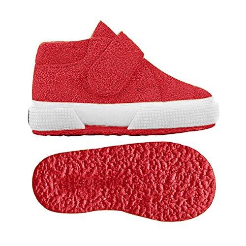 Superga 2174-Bsuj, Sneaker a Collo Alto Unisex – Bambini RED PAPAVERO