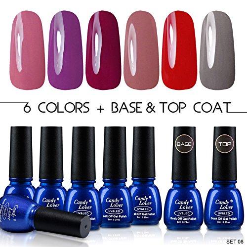 candy-lover-smalto-6-colori-differenti-unghie-gel-top-coat-gel-base-set-kit-colori-gel-semipermanent