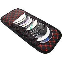 Ceely (TM) 9PCS dischi CD DVD occhiali Cards Sotre case Holder bag per camion veicolo parasole organizer