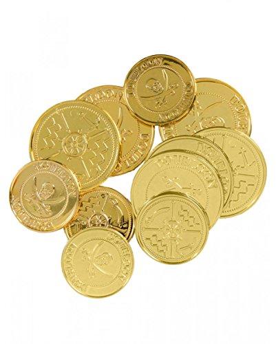 Goldene Piraten Münzen - Halloween-kostüme Blackhawks