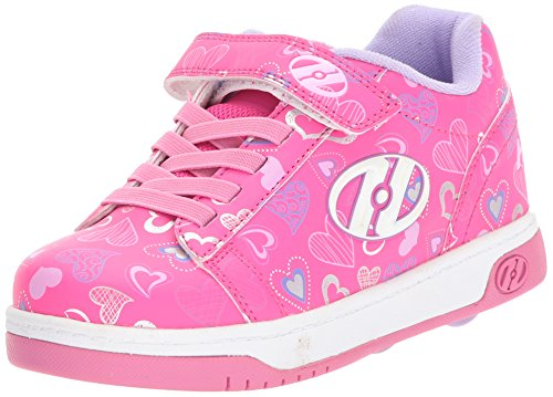 Heelys Unisex-Kinder X2 Fitnessschuhe, Mehrfarbig (Hot Pink/White/Hearts 000), 35 EU - Heelys X2 Mädchen
