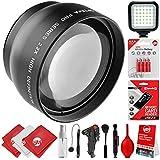 Opteka 2.2X High Definition AF Telephoto Lens For Canon Digital SLR Cameras 80D, 77D, 70D, 60D, 7D, T7i, 7D Mark II, T6s, T6i, T6, T5i, T5, T4i, T3i, T3, SL1, SL2-32GB - 20PC Bundle