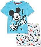 Disney Mickey 173402, Ensemble de Pyjama Garçon, Bleu, Taille Fabricant: 5 Ans