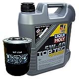 LIQUI MOLY Top Tec 4100 5W-40 3701 + MANN FILTER Ölfilter WP 1144