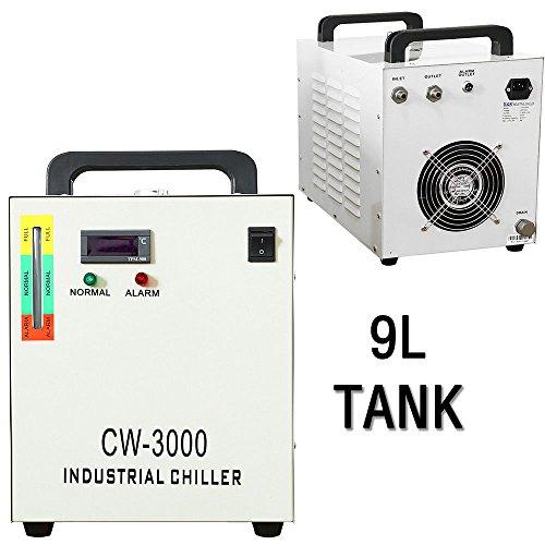 SENDERPICK Industriewasser-Kühler CW-3000, 9L 110V 60HZ industrieller Wasserkühlungs-Kühler für 60W 80W Laser-Graviermaschine