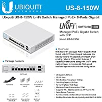 "Ubiquiti US-8-150W ""Switche Managed"" PoE + Gigabit-Switch mit SFP weiß"