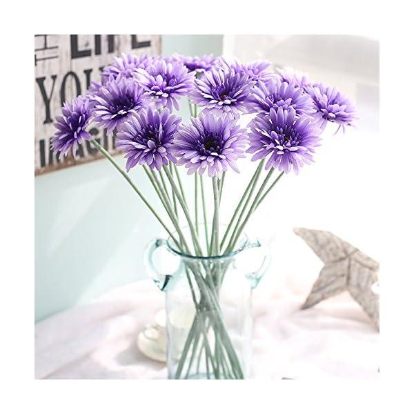 DANMEI un Ramo de Girasol Simulación Flor Gerbera exporta hogar Decorativo Flores Artificiales Plantas de Simulación…