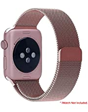 AirCase Milanese Loop Band Strap for Apple Watch Series 4 / 3 / 2 / 1, 40mm 38mm Steel Alloy (Rose)
