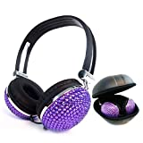 Best Headphones Blings - Kasstino Beautiful and Lovely Bling Style Crystal Handmade Review