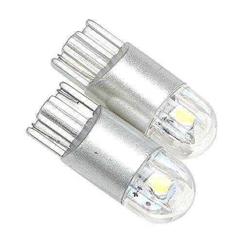 1 paire de voiture côté lumière dôme lumière de voiture lampe de plaque d'immatriculation T10 W5 W lumière LED