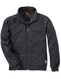 Carhartt Sweatshirt Midweight Mock Neck Zip Sweatshirt Carbon Heather-XS