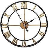 GAOHL American Retro Living sala bares cafeterías redondo pared reloj forja decorativa 18 pulgadas , 2