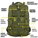 HUKOER Multifunktionale Rucksack-30L Wasserdichte Outdoor Sports Trekkingrucksäcke-perfekte Wanderrucksäcke Sportrucksack Reisetaschen für Sport Liebhaber (Armeegrün) - 2