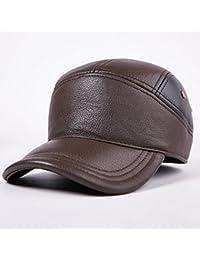 Tiandao Sombrero cálido Otoño Invierno Cuero Gorra Masculina Mantener Caliente Oreja Protectora Gorra de algodón…