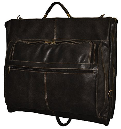 david-king-co-distressed-leather-garment-bag-cafe-one-size
