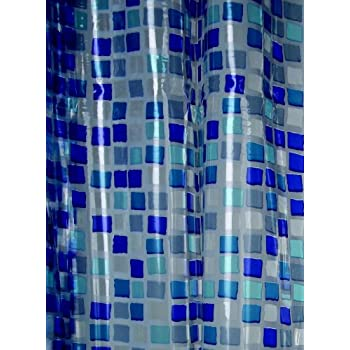 Blue Canyon PVC Shower Curtain Mosaic Design