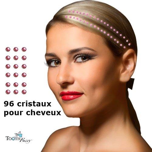 Cristaux ROSE Bijoux pour les cheveux
