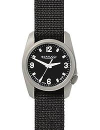 Bertucci h10300Unisex titanio patrimonio negro Dial de banda de nylon negro reloj