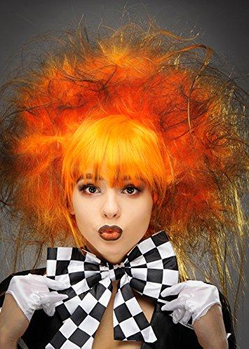 Struts Gothic Halloween Orange dunkle Mad Hatter Perücke