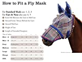 Kensington Fly maschera con fettuccia Trim, Black Ice plaid, X-Large