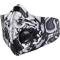 VORCOOL Máscaras a prueba de polvo, máscara de polvo de carbón activado Máscara de deporte con filtro de filtración Hoja de algodón y válvulas de gas de escape, alergia contra el polen, PM2.5, funcionamiento, ciclismo