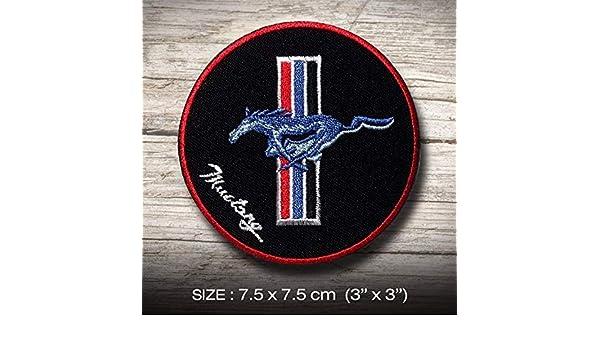 Mustang FORD T Sports Racing MOTORSPORT /Écusson/Patch en fer brod/é sur accessoire Souvenir Applique