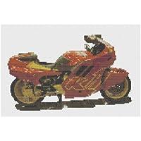 Harley Davidson Motorbike CrossStitch Kit by Florashell