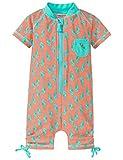 Schiesser Baby-Mädchen Badeanzug Seepferdchen Selina Surfanzug, Grün (Mint 708), 86 (Herstellergröße: 414)