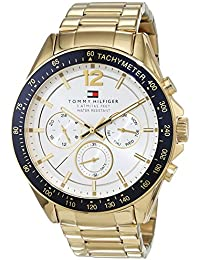 Tommy Hilfiger Mens Quartz Watch, multi dial Display and Stainless Steel Strap 1791121