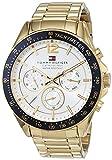 Tommy Hilfiger Herren Multi Zifferblatt Quarz Uhr mit Edelstahl Armband 1791121