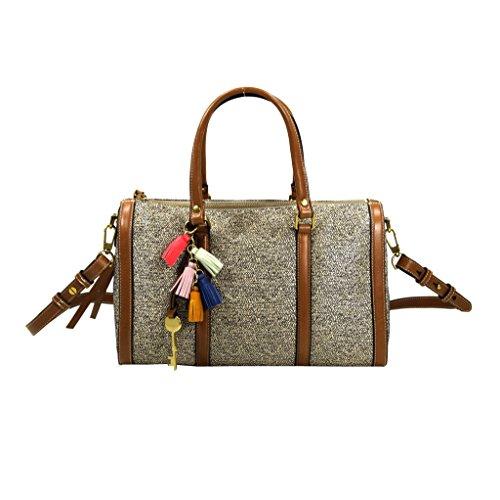 Fossil KENDALL Satchel Natru Multi ZB7156-994 Damen Handtasche Tasche Henkeltasche Schultertasche Umhängetasche (Satchel Handtasche Multi-tasche)