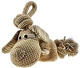 Schnüffelfreunde Hundespielzeug aus Plüsch | Das Plüschtier mit Seil zum Spielen ohne Quitscher - für große und kleine Hunde