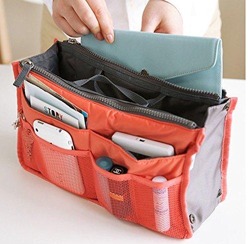 Generic Grün: 12Farben Make-up-Tasche Storage Organizer Tasche Damen Herren Casual Reise Multi Funktionelle Kosmetik Nachteil Bag Reißverschluss Handy Handtasche