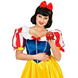 NET TOYS Schneewittchen Haarreif Prinzessin Kopfschmuck Karneval Fasching Haarreifen mit Schleife Haar Reif Kostüm Zubehör Märchen
