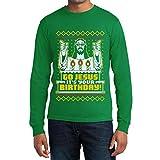 Go Jesus Hässliches Weihnachts-Motiv Langarm T-Shirt XX-Large Grün