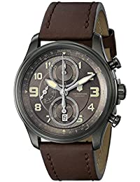 Swiss Army Infantry Vintage Automatic Chronograph PVD Steel Mens Strap Watch 241520
